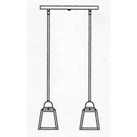 Arroyo Craftsman AICH-2TCR-P A-Line 2 Light 15 inch Pewter Pendant Ceiling Light in Cream alternative photo thumbnail