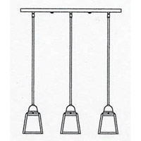 Arroyo Craftsman AICH-3EOF-BZ A-Line 3 Light 24 inch Bronze Pendant Ceiling Light in Off White alternative photo thumbnail