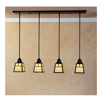 Arroyo Craftsman A-Line 4 Light Pendant in Bronze AICH-4TCR-BZ