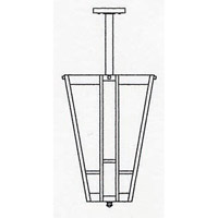 Arroyo Craftsman AIH-12CS-RB Asheville 3 Light 12 inch Rustic Brown Inverted Chandelier Ceiling Light in Clear Seedy alternative photo thumbnail