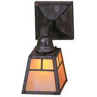 Arroyo Craftsman AS-1TGW-MB A-line 1 Light 5 inch Mission Brown Wall Mount Wall Light