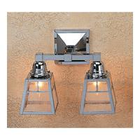 Arroyo Craftsman AS-2TCS-N A-line 2 Light 13 inch Nickel Wall Mount Wall Light