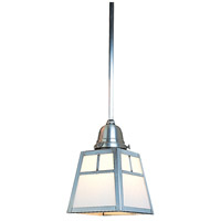 Arroyo Craftsman ASH-1TWO-P A-Line 1 Light 5 inch Pewter Pendant Ceiling Light in White Opalescent photo thumbnail