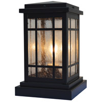 Arroyo Craftsman AVC-6CS-BK Avenue 1 Light 11 inch Satin Black Column Mount in Clear Seedy