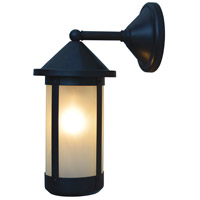 Arroyo Craftsman BB-6LWF-BZ Berkeley 1 Light 14 inch Bronze Outdoor Wall Mount in Frosted