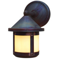Arroyo Craftsman BB-6SWOF-RC Berkeley 1 Light 10 inch Raw Copper Outdoor Wall Mount in Off White