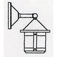 Arroyo Craftsman BB-6SWCR-BK Berkeley 1 Light 10 inch Satin Black Outdoor Wall Mount in Cream alternative photo thumbnail