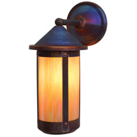 Arroyo Craftsman BB-7LWGW-RC Berkeley 1 Light 17 inch Raw Copper Outdoor Wall Mount in Gold White Iridescent