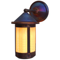 Arroyo Craftsman BB-7WGW-RC Berkeley 1 Light 15 inch Raw Copper Outdoor Wall Mount in Gold White Iridescent