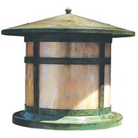 Arroyo Craftsman BC-14GW-VP Berkeley 1 Light 12 inch Verdigris Patina Column Mount in Gold White Iridescent photo thumbnail