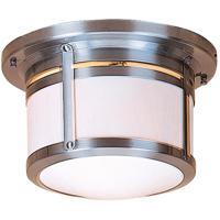 Arroyo Craftsman BCM-10AM-N Berkeley 2 Light 12 inch Nickel Flush Mount Ceiling Light in Almond Mica