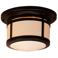 Berkeley 2 Light 14 inch Bronze Flush Mount Ceiling Light in Cream