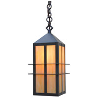 Arroyo Craftsman BEH-7GW-BZ Bexley 1 Light 5 inch Bronze Pendant Ceiling Light in Gold White Iridescent