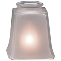 Arroyo Craftsman BG-FCE Signature Frosted White Glass 2 inch Glass Shade in Frosted White Curved
