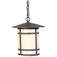 Arroyo Craftsman BH-14LCR-MB Berkeley 1 Light 14 inch Mission Brown Pendant Ceiling Light in Cream