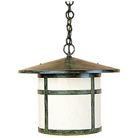 Arroyo Craftsman BH-17OF-VP Berkeley 1 Light 17 inch Verdigris Patina Pendant Ceiling Light in Off White photo thumbnail