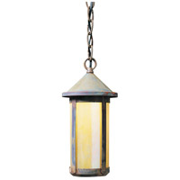 Arroyo Craftsman BH-6LGW-RC Berkeley 1 Light 6 inch Raw Copper Pendant Ceiling Light in Gold White Iridescent