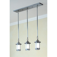 Arroyo Craftsman BICH-6/3WO-P Berkeley 3 Light 30 inch Pewter Pendant Ceiling Light in White Opalescent photo thumbnail