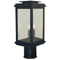 Arroyo Craftsman BOP-8AE-AB Bournemouth 2 Light 16 inch Antique Brass Outdoor Post Mount