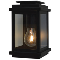 Arroyo Craftsman BOW-5CLR-BK Bournemouth 1 Light 8 inch Satin Black Outdoor Wall Mount