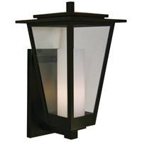 Arroyo Craftsman BRB-10CLR/WHT-BZ Brighton 1 Light 18 inch Bronze Outdoor Wall Mount in Clear with White Inner Cylinder