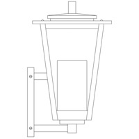 Arroyo Craftsman BRB-8CLR/WHT-RB Brighton 1 Light 14 inch Rustic Brown Outdoor Wall Mount in Clear with White Inner Cylinder photo thumbnail