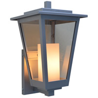 Arroyo Craftsman BRB-8CLR/WHT-P Brighton 1 Light 14 inch Pewter Outdoor Wall Mount in Clear with White Inner Cylinder