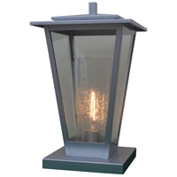 Arroyo Craftsman BRC-10CLR/CS-P Brighton 1 Light 17 inch Pewter Column Mount in Clear with Clear Seedy Inner Cylinder