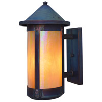 Arroyo Craftsman BS-7LRGW-RC Berkeley 1 Light 14 inch Raw Copper Outdoor Wall Mount in Gold White Iridescent