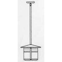 Arroyo Craftsman BSH-11CS-MB Berkeley 1 Light 11 inch Mission Brown Pendant Ceiling Light in Clear Seedy alternative photo thumbnail