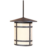 Arroyo Craftsman BSH-14LCR-MB Berkeley 1 Light 14 inch Mission Brown Pendant Ceiling Light in Cream