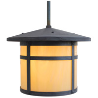 Arroyo Craftsman BSH-14OF-MB Berkeley 1 Light 14 inch Mission Brown Pendant Ceiling Light in Off White