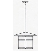 Arroyo Craftsman BSH-17LRM-N Berkeley 1 Light 17 inch Nickel Pendant Ceiling Light in Rain Mist alternative photo thumbnail
