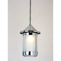 Arroyo Craftsman BSH-7F-N Berkeley 1 Light 7 inch Nickel Pendant Ceiling Light in Frosted