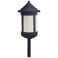Berkeley 60 watt Satin Black Landscape Light in White Opalescent