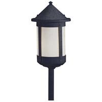 Arroyo Craftsman BSP-6WO-BK Berkeley 60 watt Satin Black Landscape Light in White Opalescent