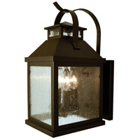 Arroyo Craftsman CAB-7CS-BZ Canterbury 3 Light 7 inch Bronze Wall Mount Wall Light in Clear Seedy
