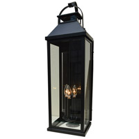 Arroyo Craftsman CAB-7LCS-RC Canterbury 3 Light 23 inch Raw Copper Outdoor Wall Mount in Clear Seedy