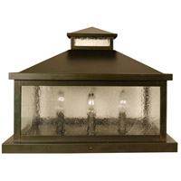 Arroyo Craftsman CAC-16CS-BZ Canterbury 4 Light 13 inch Bronze Column Mount in Clear Seedy
