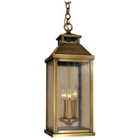 Arroyo Craftsman CAH-7LCS-AB Canterbury 3 Light 7 inch Antique Brass Pendant Ceiling Light in Clear Seedy