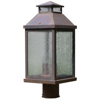 Arroyo Craftsman CAP-9CS-BZ Canterbury 3 Light 22 inch Bronze Post Mount in Clear Seedy
