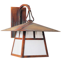 Arroyo Craftsman CB-12TAM-AC Carmel 1 Light 12 inch Antique Copper Wall Mount Wall Light in Almond Mica photo thumbnail