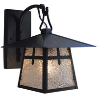 Arroyo Craftsman CB-8TRM-BK Carmel 1 Light 10 inch Satin Black Outdoor Wall Mount in Rain Mist thumb