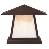 Arroyo Craftsman CC-12EWO-BZ Carmel 1 Light 10 inch Bronze Column Mount in White Opalescent