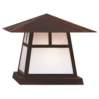 Arroyo Craftsman CC-15TWO-BZ Carmel 1 Light 12 inch Bronze Column Mount in White Opalescent
