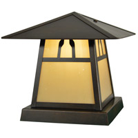Arroyo Craftsman CC-8BTN-BZ Carmel 1 Light 8 inch Bronze Column Mount in Tan