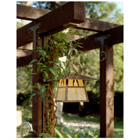 Arroyo Craftsman CH-15BM-P Carmel 1 Light 15 inch Pewter Pendant Ceiling Light in Amber Mica CH-15BGW-AB-env.jpg thumb