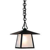 Arroyo Craftsman CH-8EF-BK Carmel 1 Light 8 inch Satin Black Pendant Ceiling Light in Frosted