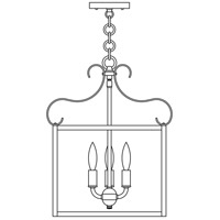 Arroyo Craftsman COH-14RM-MB Corsica 3 Light 14 inch Mission Brown Pendant Ceiling Light in Rain Mist photo thumbnail