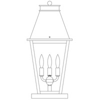 Arroyo Craftsman CRC-10CS-P Croydon 3 Light 21 inch Pewter Column Mount in Clear Seedy photo thumbnail